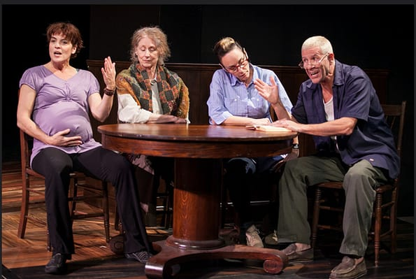 (l-r) Lisa Hodsoll, Rita Cherry Brown, Susan Rome, Tom Wiggin (Photo: C. Stanley Photography)