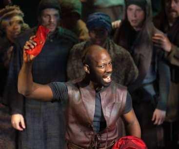 Maurice Jones as Mark Antony (Photo: Jeff Malet)