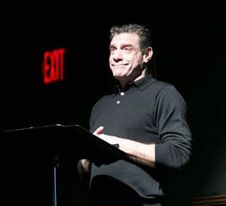 Lou Liberatore reads an excerpt from one of Tony Kushner's short stories (Photo: Roman Petruniak)
