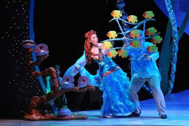 Laura Zinn as Ariel and the sea creatures (Photo: Stan Barouh)