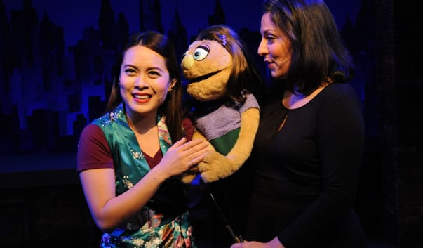 Christmas Eve, Kate Monster: Justine Icy Moral, Katy Carkuff in Avenue Q from Constellation Theatre (Photo: Stan Barouh)
