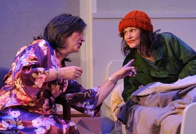 (l-r) Cornelia Hart and Wendy Wilmer in Can't Complain at Spooky Action Theater (Photo: Franc Rosario)