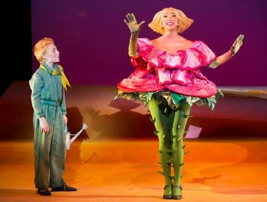 Henry Wager as The Little Prince and Lisa Williamson as The Rose (Photo: Scott Suchman)