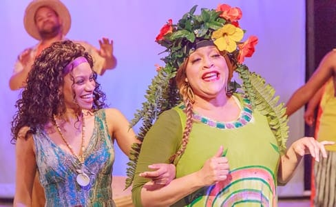 Tiara N. Whaley as Ti Moune and Iyona Blake as Asaka, Mother Earth Goddess (Photo: Keith Waters)
