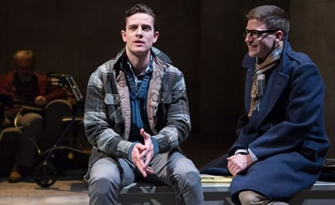 (l-r) Chris Dinolfo and Sam Ludwig in Sons of the Prophet at Theater J (Photo: Teresa Wood)