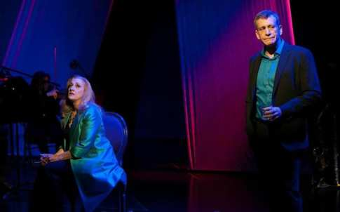 Donna Migliaccio and Bobby Smith in  Simply Sondheim  at Signature Theatre.  (Photo: Margot Schulman)