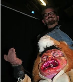 Paul Bezaire with his crotch puppet.