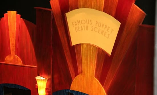 Click for tickets to Famous Puppet Death Scenes at Woolly Mammoth until  January 4, 2015