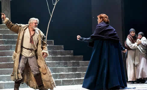 Darrell D'Silva as Siward and Siobhan Redmond as Gruach, (Lady Macbeth) in Dunsinane (Photo: KPO photo)