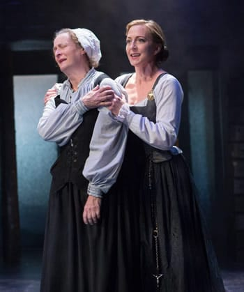 (l-r) Nancy Robinette as Hanna and Kate Eastwood Norris Mary, Queen of Scots in Mary Stuart (Photo: Teresa Wood)