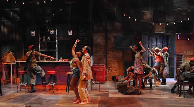The cast of Ruined at Everyman Theatre (Photo: Stan Barouh)
