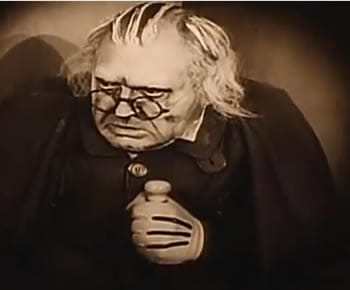 Werner Krauss as Dr. Caligari in the 1920 film (click to view it_