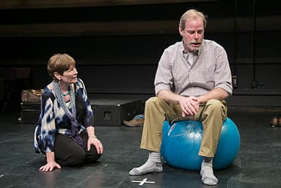 Meg Kelly as Marty and Tom Byrn as James (Photo: Katie Simmons-Barth)