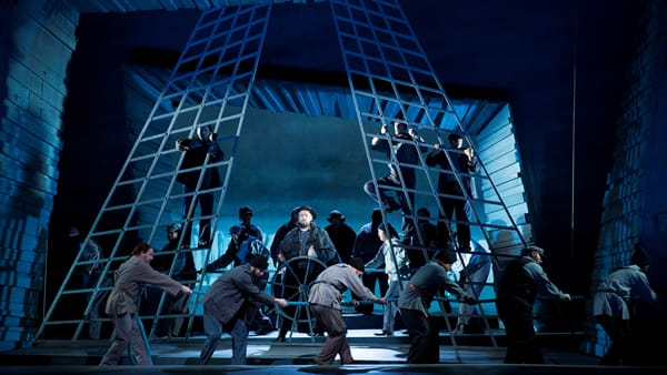 Ain Anger as Daland and the company of The Flying Dutchman. (Photo: Scott Suchman for WNO)