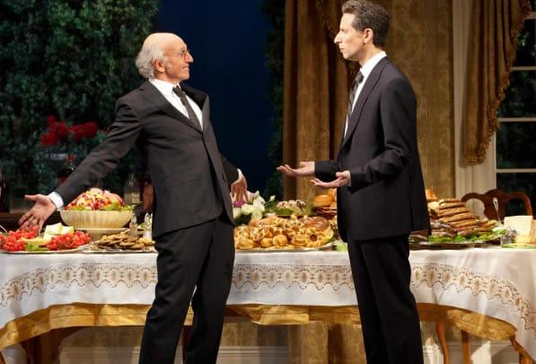 (l-r) Larry David and Ben Shenkman in Fish in the Dark (Photo: Joan Marcus)