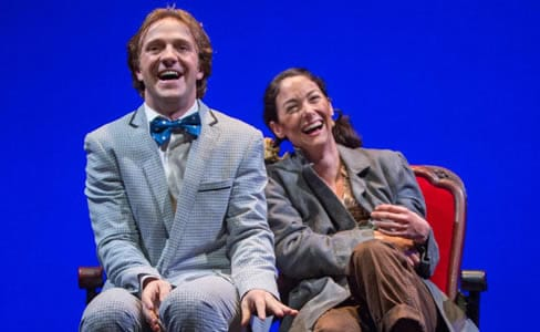 Creed Garnick as Roscoe and Helen Cespedes as Mabel in Beth Henley's Laugh. (Photo: Igor Dmitry)