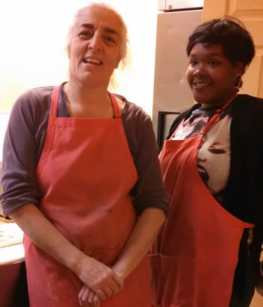 Fatima Nayir and her assistant Jamia Paige, Mama's Pizza Kitchen DC