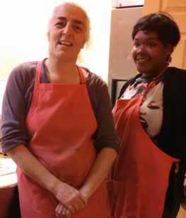 Fatima Nayir and her assistant Jamia Paige, Mama's Pizza Kitchen DC