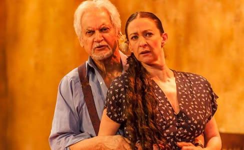 Roberto Colmenares as José and Luz Nicolás as Mariela in Mariela in the Desert (Photo courtesy of GALA Hispanic Theatre)