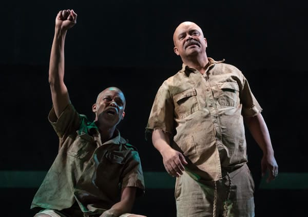 Michael Anthony Williams and Doug Brown in The Island (Photo: Chris Banks)