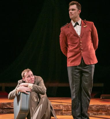 (l-r) Peter Finnegan and James Finley in very still & hard to see (Photo: C. Stanley Photography)