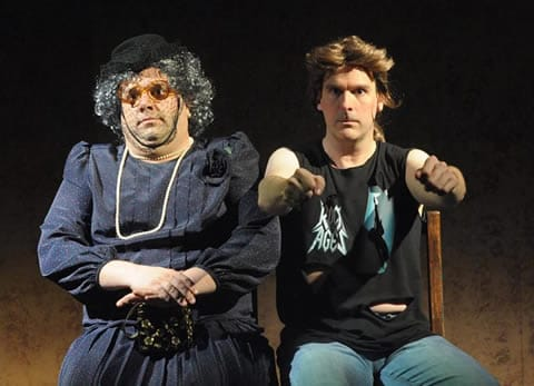 Michael Harris and Peter Boyer in Greater Tuna (Photo courtesy of Compass Rose Theatre)