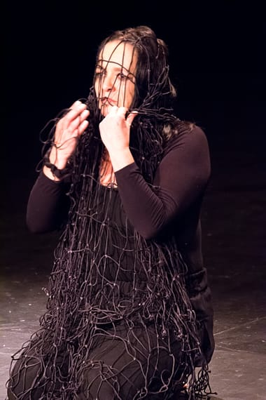 Juana Estrella as Maria Magdalena/ Mary Magdalene.  (Photo: Justa Gutierrez)