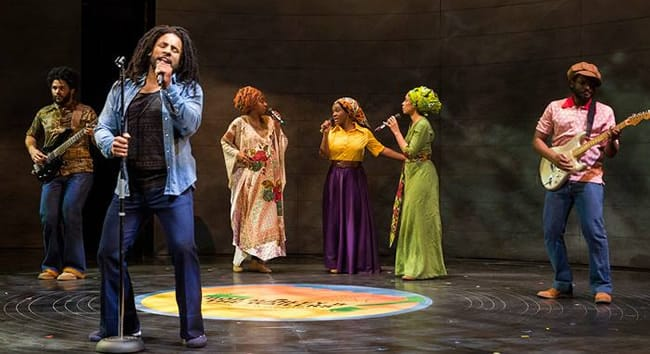 The cast of Marley at Center Stage (Photo: Richard Anderson)