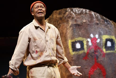 Leon Addison Brown as Nukain Mabuza in Painted Rocks at Revolver Creek (Photo: Joan Marcus)