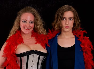 (l-r) Ryan Maxwell. Vanessa Bradchulis and Katrina Clark in The Last Burlesque at Capital Fringe (Photo: Ryan Maxwell)