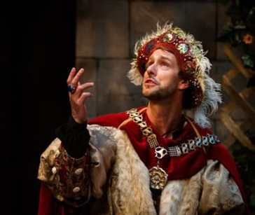 """Sun King Davis as King Henry VIII  in """"A Man for All Seasons"""" at NextStop Theatre - (Photo by Traci J. Brooks Studios.)"""