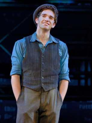 Jack Kelly as Dan DeLucas, Original North American Tour company of NEWSIES  (Photo: ©Disney, Deen van Meer)