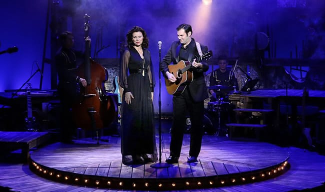 Katie Barton as June Carter Cash and Ben Hope as Johnny Cash and in Ring of Fire: The Music of Johnny Cash (Photo: Paul Tate dePoo).