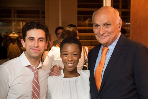 Brandon Uranowitz and  Samira Wiley with STC Artistic Director Michael Kahn (Photo: Kevin Allen)