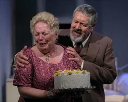 Linda High as Big Mama and Kevin Adams as Big Daddy in Cat on a Hot Tin Roof (Photo: C. Stanley Photography)