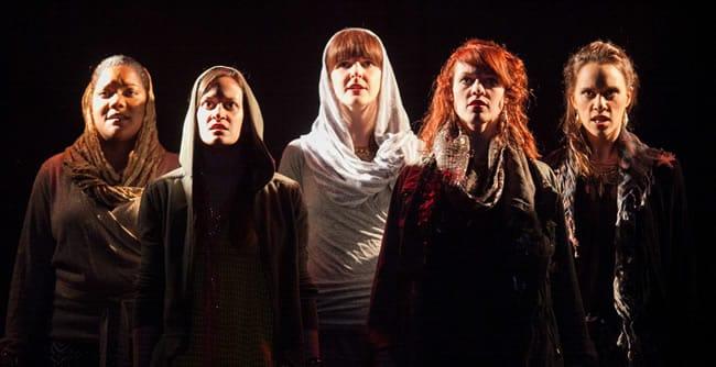 Leto chorus: (l-r) Lolita Marie, Katie Jeffries, Katie Nigsch, Carolyn Kashner, Audrey Bertaux (Photo: C. Stanley Photography)