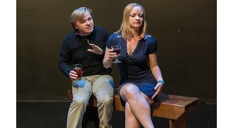 Seth Rosenke and Lizzi Albert in Never Never at Capital Fringe (Photo: Paul Gillis Photography)