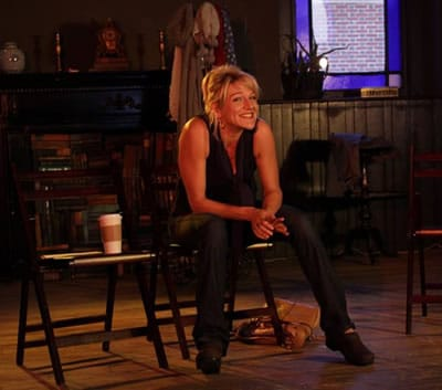 Karin _____ as Eve in Saving Myself for Steve Martin from Strand Theater Company (Photo courtesy of Strand Theater)