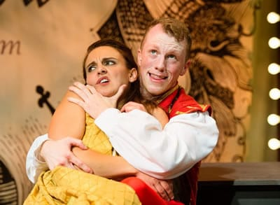 Karen Vincent and Paul Scanlan in Kiss Me Kate at NextStop Theatre Company