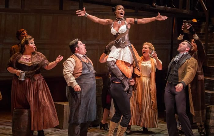 Felicia Curry and cast of Oliver! The Musical (Photo: Mike Horan)