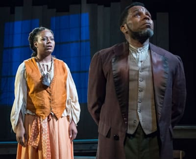 Cynthia D. Barker and Anthony Manough in Uprising at MetroStage (Photo: Chris Banks)