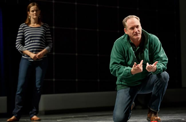Enid Graham and Andrew Long in Curious Incident of the Dog in the Night-Time (Photo: Joan Marcus)