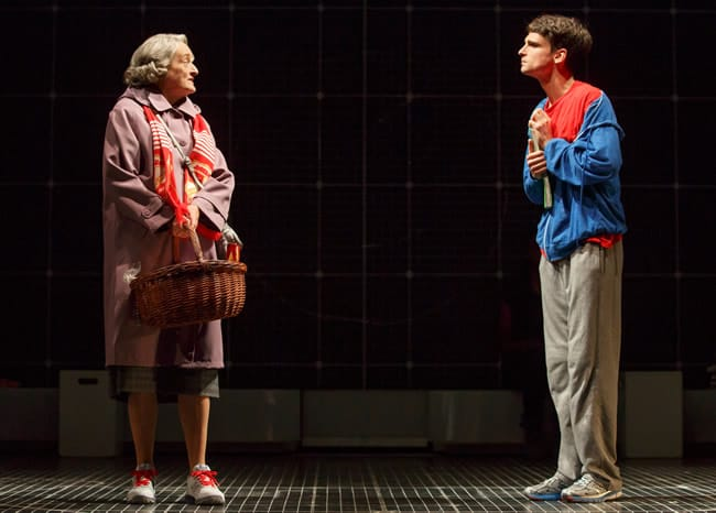 Nancy Robinette and Tyler Lea in Curious Incident of the Dog in the Night-Time (Photo: Joan Marcus)