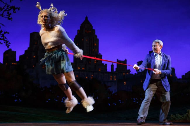 Annaleigh Ashford and Matthew Broderick in Sylvia at the Cort Theater