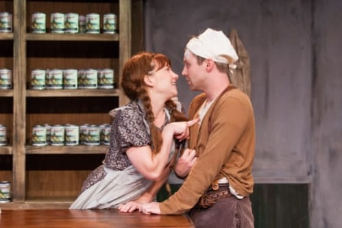 Megan Dominy and Josh Adams in The Cripple of Inishmaan from Scena Theatre (Photo:  Jae Yi Photography)