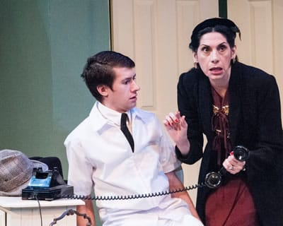 Robert Grimm and Sue Schaffel in Harvey at 1st Stage. (Photo: Teresa Castracane)