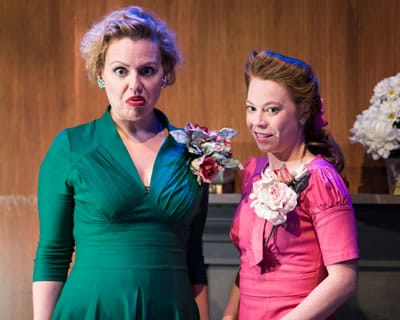 (l-r) (left to right) Tonya Beckman, and Kelsey Meiklejohn in Harvey at 1st Stage. (Photo: Teresa Castracane)