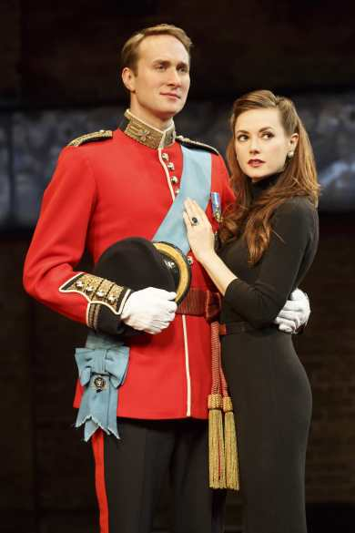 Oliver Chris and Lydia Wilson in King Charles III (Photo: Joan Marcus)