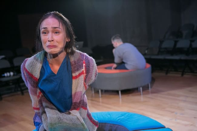 Laura C. Harris and Daniel Corey in World Builders from Forum Theatre (Photo: C. Stanley Photography)