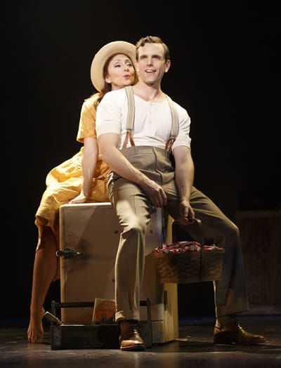 Carmen Cusack and Paul Alexander Nolan in Bright Star at the Kennedy Center. (Photo: Joan Marcus)